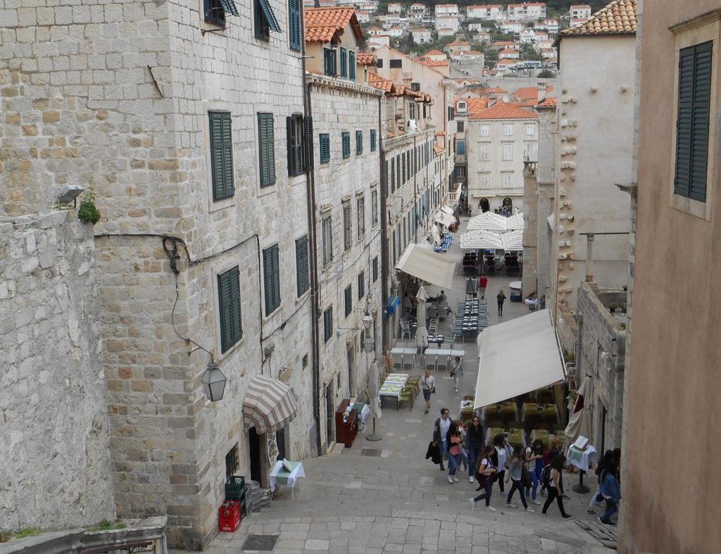 Escaliers à Dubrovnik - tournage de Game of Thrones