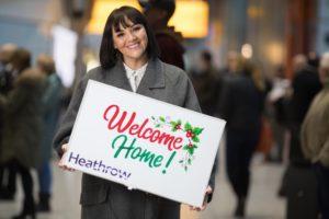 lieux les plus romantiques à Noël - Aéroport Heathrow